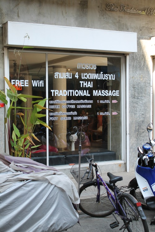 One-Hour Thai Massage for Both of Us (Round Two): $9.17. We Met Two Canadian Guys Who Wanted to Get Massages, So We Went Again. Awesome, Eh?