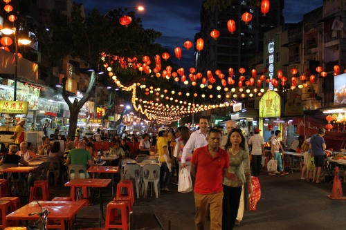 Jalan Alor (Known as Food Street). Also Ready for the New Year.