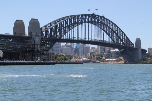 First Picture Taken of Sydney Harbour Bridge.