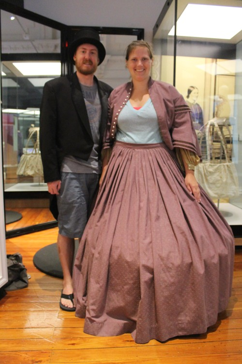 19th-Century Dunedin Garb. These People Were Tiny as the Clothes Were Quite Small.