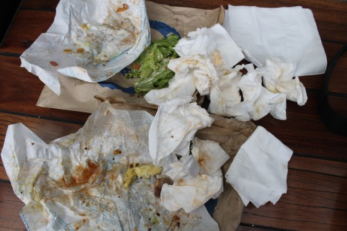 Napkin Aftermath.