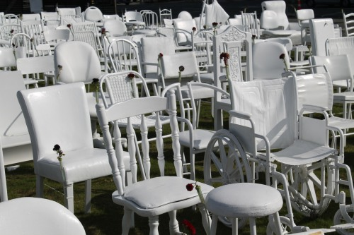 White Chairs.