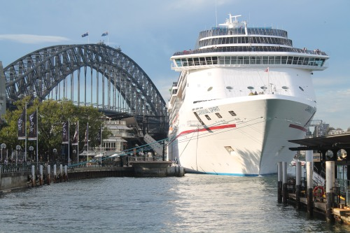Bridge. Cruise Ship. Both Massive.