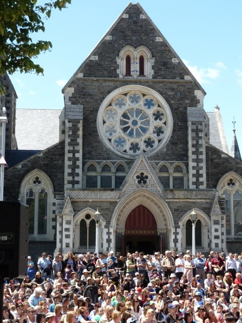 January 2011: Christchurch Cathedral.