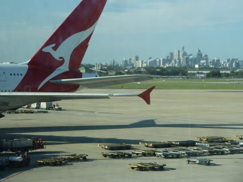 Sydney from the Airport. Last Photo Taken in Oz.